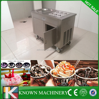 Hot summer 1+6 pan cold pan ice pan fry fried ice cream machine/single pan fried ice cream machine