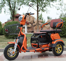 three wheel Luxury Electric Tricycle Motorcycle with 2 seats
