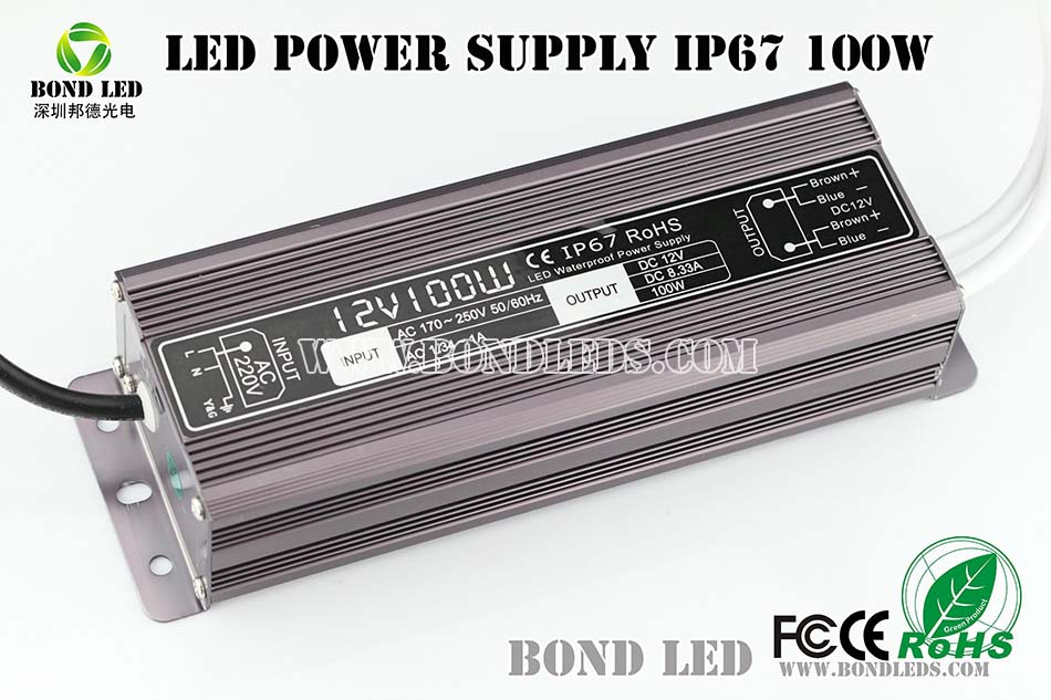 Hot sale 100W 24V 4.17A led ac dc switching transformer/ power supply 12v 8.3A