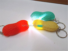 Lowest Price RA LED Cute Bright Mini Peanut Torch Flash light Keychain 1LED Flashlight Gift