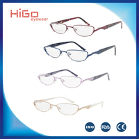 new metal woman glasses frame most foldable reading glasses china manufacturers EYEWEAR good quality cheap price OCULOS