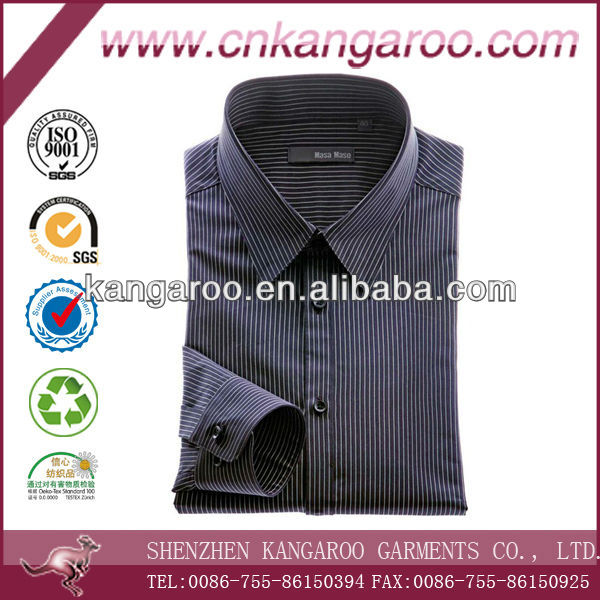 Trendy shirts/mens pinstripe cotton long sleeves business shirts/Tailor shirts for men