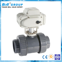 Best quality electric actuated plastic water ball valve