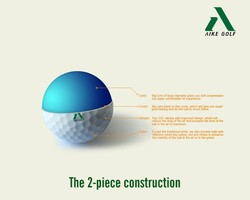 professional 2 layers golf practice ball
