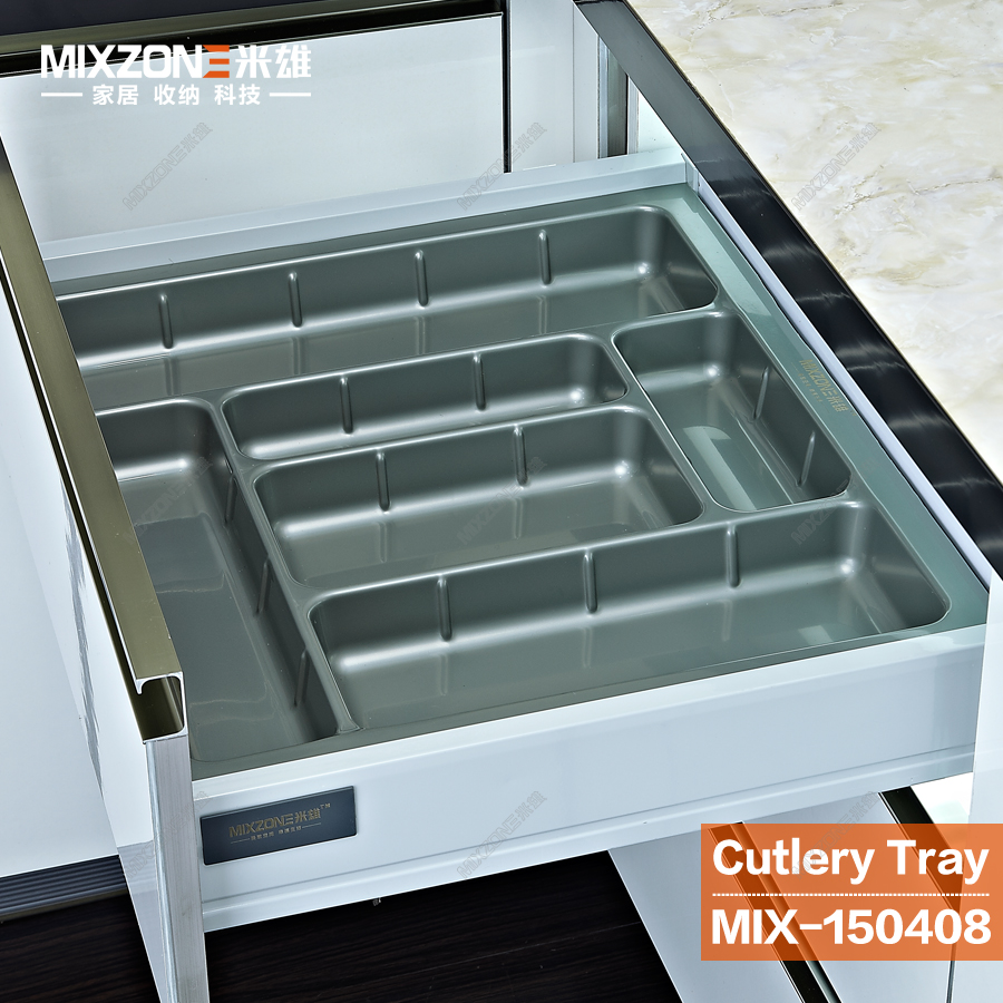In drawer organizer for morden european and american kitchen cabinet