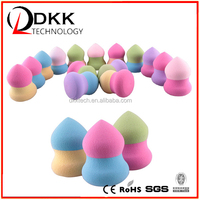 DKK 2015 new product Hot Sale Non Latex Make Up Blending Sponge Cosmetic Puff Natural Makeup Sponge,Puff Cosmetic Powder Puff