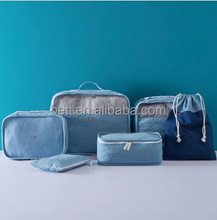 New Design Multi-Functional 6pcs Set nylon clothes travel luggage garment storage bag wholesale