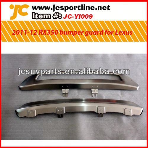 Stainless steel front and rear bumper guard bumper guard For 2010-2012 Lexus RX350 bumper protector