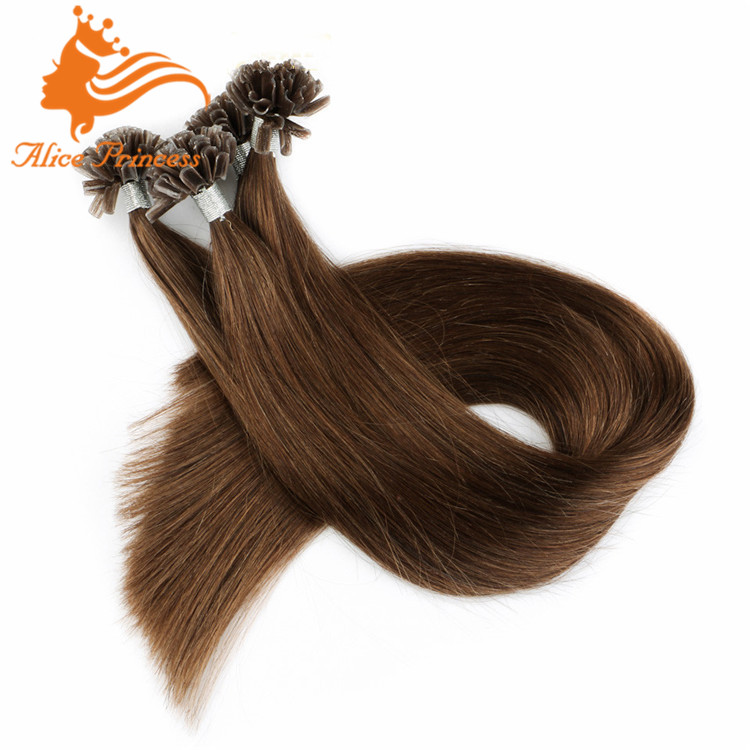 8# chestnut brown hair color 0.5g/s pre bonded nail u tip human hair extension
