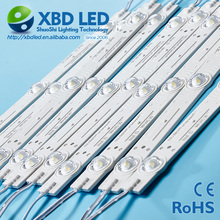 NEW brand single color IP65 / IP67 3Leds injection lens SMD 3030 led module light bar 12V or 24V diffuse backlight