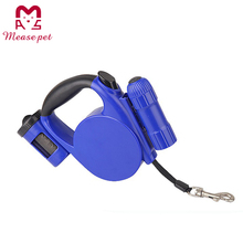 factory new item good quality pet product LED retractable dog leash and dispenser plastic pet collar