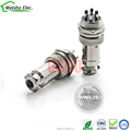 Silver Metal waterproof connector 4 pins DIN male industrial aviation plug female aviation socket