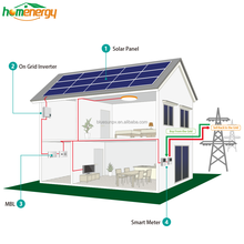 Customized design easy installation 20kw solar panel system with 25 years warranty