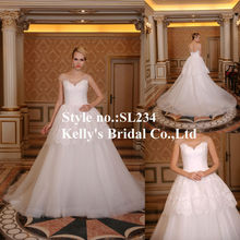 2015 latest see through corset lace bodice wedding dress ball gowns Luxurious Ball Gown Factory direct Ready made dresses