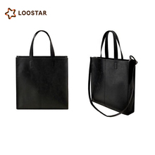 Custom Unisex Minimalism PU Leather Tote Bag