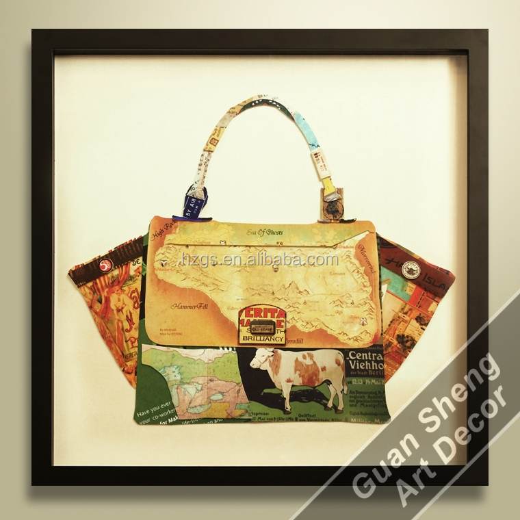 Decoration Fashon Bag Oil Painting Beautiful