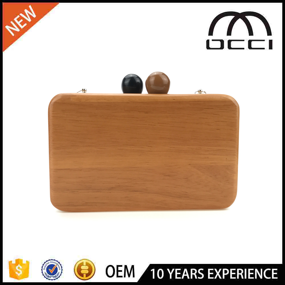 wholesale china evening clutch bags best price wooden clutch bag OC3046