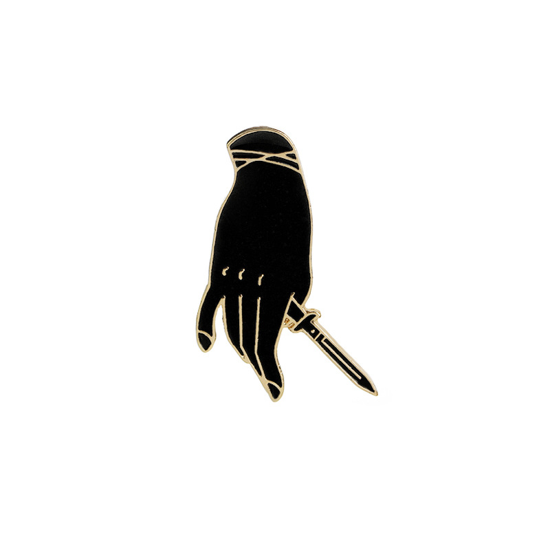 hard enamel different finger postures lapel pin <strong>metal</strong>