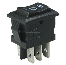 Rocker Switches with double pole double throw on-off-on manufacture China