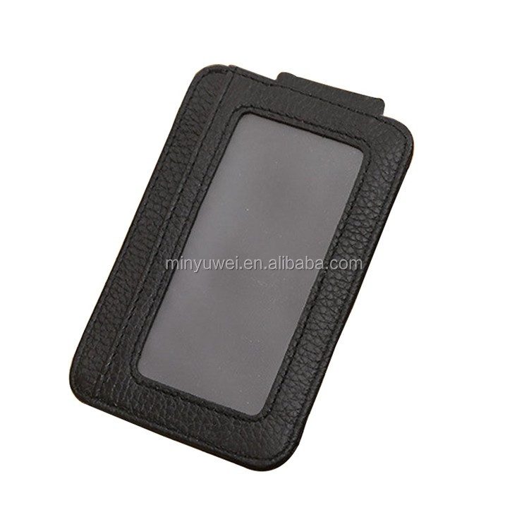 Strong Magnetic Thin Slim Mens Credit Card ID Holder leather money clip