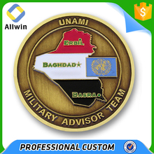 Custom Military Related Advisor Team Challenge Coins