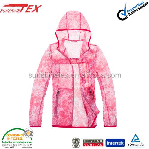 Pink summer skin suit cycling jackets for girls