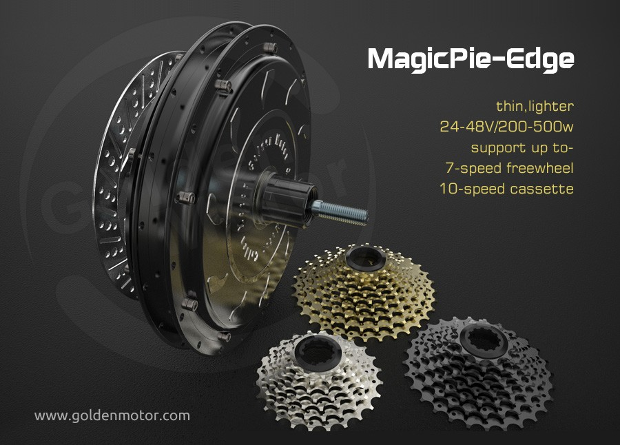 MagicPie Edge bicycle motor kit support 7-10 speed cassette, with built in, Vec programmable controller
