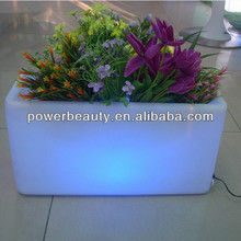 plastic illuminated rechargeable led color change vase