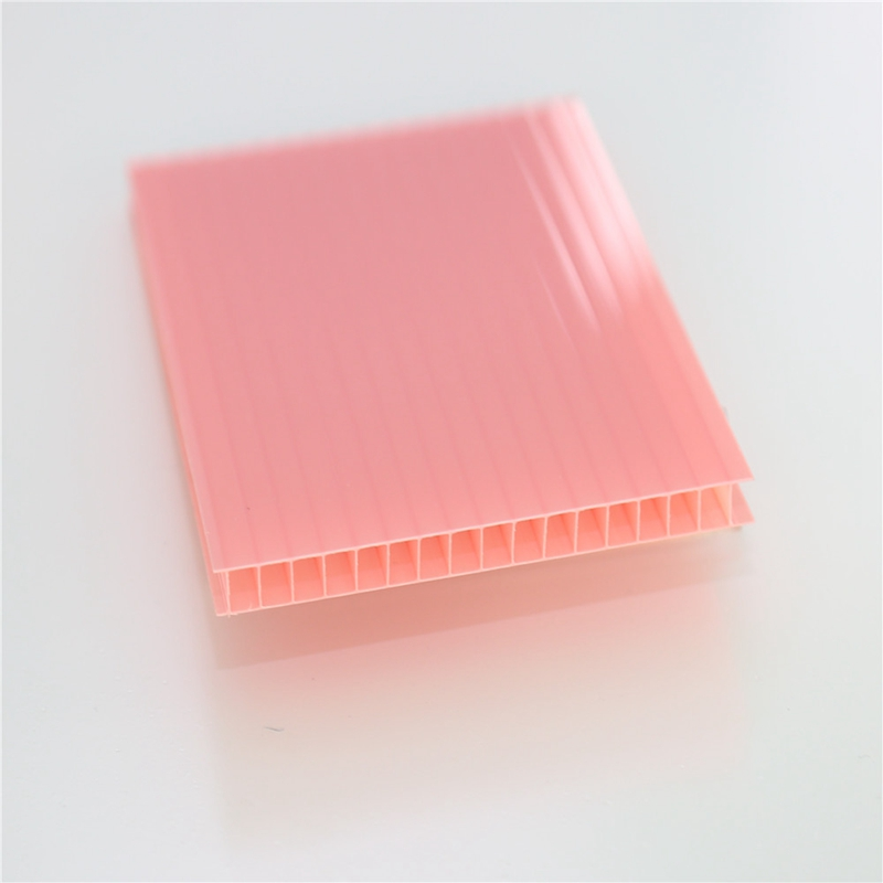polycarbonate hollow sheet roof price for car garage tents/roof