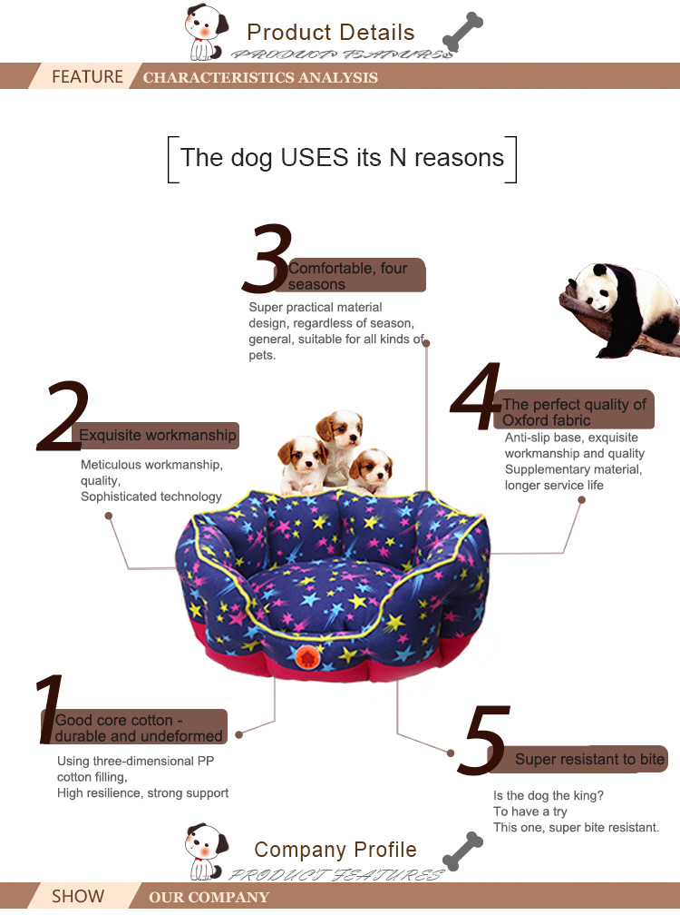 Customized Round Soft Pet Bed For Dogs