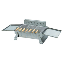Stainless steel rotary charcoal BBQ grill with motor EB-W09
