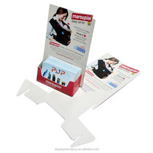 Cheap busness card promotional cardboard pop display holder