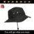 Guangjia Cap Manufacturer Wholesale Hot Selling Custom Blank Black Man Bucket Hat With String
