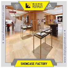 Modern brand jewelry store fixture ,stainless steel jewelry display showcase design ,jewelry showcase for sales