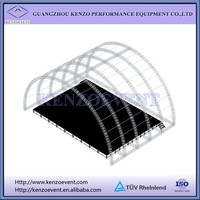 New Concert Entertainment Aluminum Stage Curved Truss