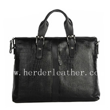Fashion designer male handbag BF3086 genuine crocodile leather briefcase