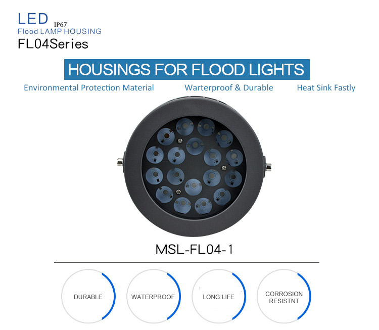 Good quality Factory price waterproof flood light housing