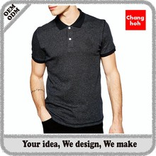 Charcoal men's polo shirt manufacturer in guangzhou