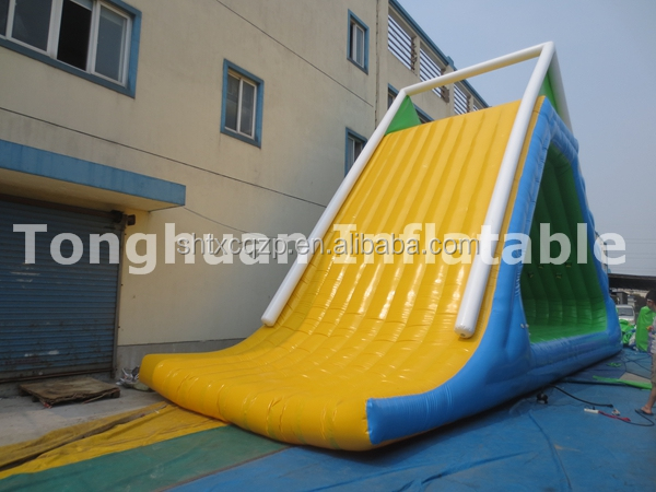 giant inflatable floating water slide