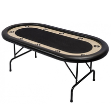 84inch 10 person custom cheap oval poker table, foldaway poker table