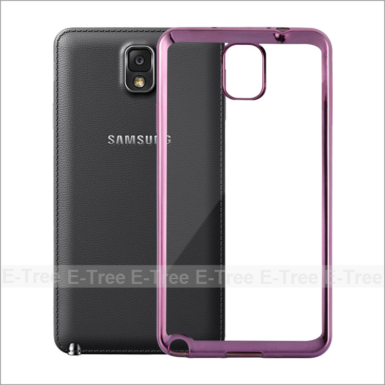 Fresh High Quality Chrome Electroplate Silcon Tpu Shockproof Case Cover For Samsung Note 3