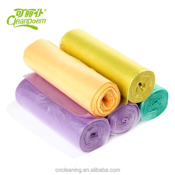 Colourful plastic garbage bags,Plastic Trash Bag HDPE LDPE