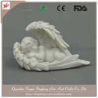 Europe Style Resin Craft Antique Little Garden Angel For Home Decorati