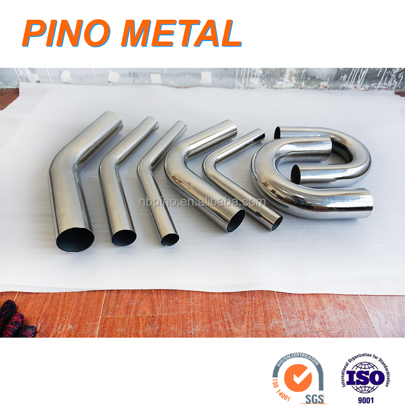 titanium stainless steel aluminum exhaust pipe bending elbow