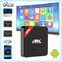 Multi-language Amlogic S905 CPU Penta-core GPU h96 Android tv box iptv set top box arabic iptv receiver tv channels home