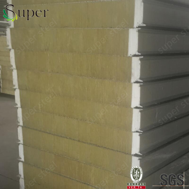 2016 low profit heat insulation rockwool Sandwich Roof Panel m2 price sandwich panel