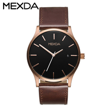 Create your own brand outdoor sport type alloy case japan quartz movt genuine leather strap men wrist watch with water resistant