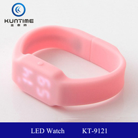 wholesale wrist watch colour silicone led watch KT-9121 white or red lights LED usb led watch usb flash drive