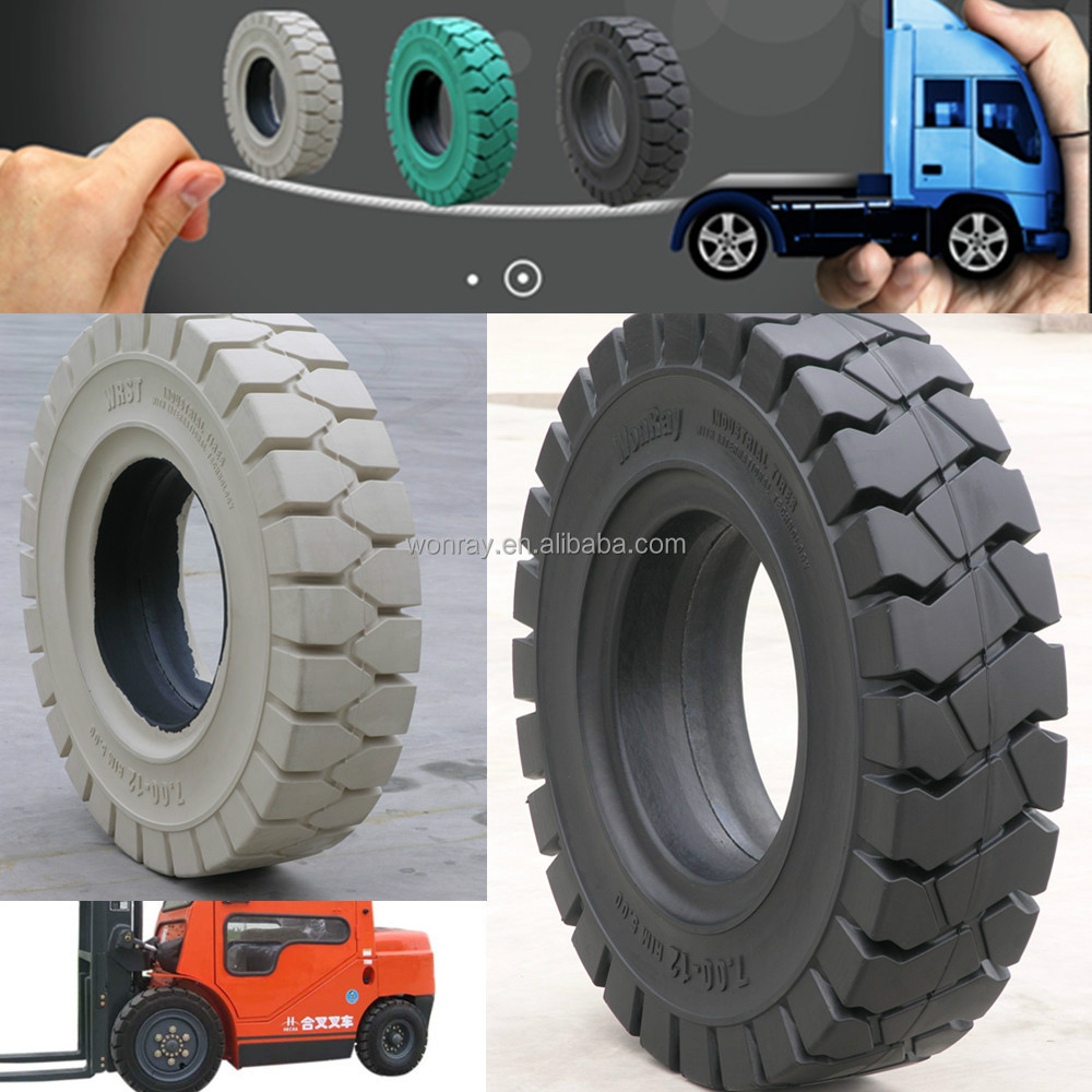 top quality factory sales directly solid forklift tires 650-10 825-15, 6.50x10 solid rubber cushion linde tire with lug