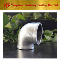 Bended GI 90R Elbow Casting iron pipe fittings